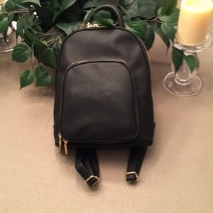 Black I.N.C. International Concepts Backpack Purse